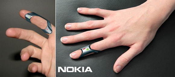 Мобильный телефон на кончиках пальцев