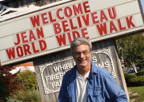 Жан Беливо - знаменитейший пешеход планеты!