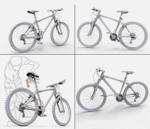 Седло велосипеда и насос в одном флаконе