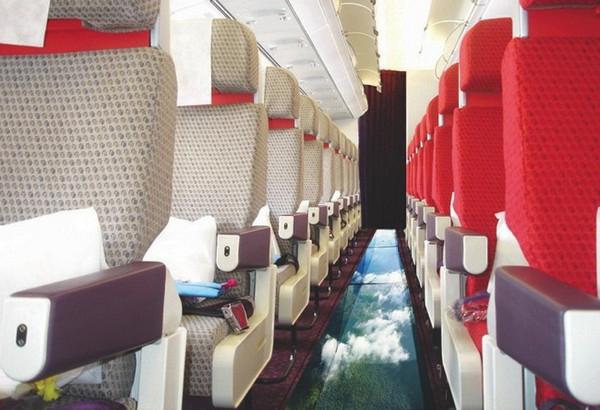 Самолет со стеклянным полом!