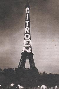 Эйфелева башня служила билбордом «Ситроен» с 1925 по 1934 год