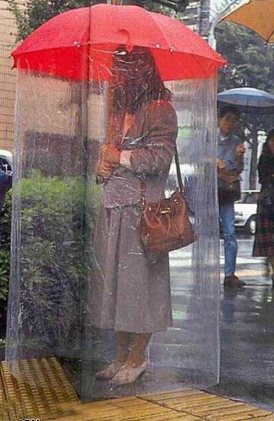 С таким зонтом - море по колено! Ваше платье полностью останется сухим!