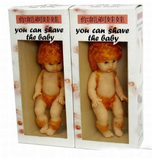 Волосатая кукла! Вы можете побрить ее!