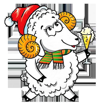 Новогодняя сценка о веселой козе!