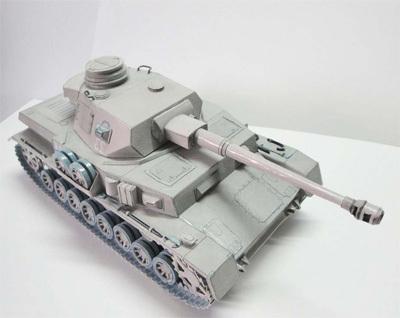 Поделки на 9 мая - танк из бумаги
