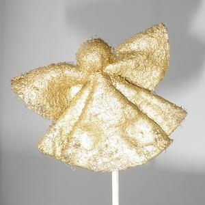 Рождественская игрушка для детишек - Ангелочек из ватных дисков!